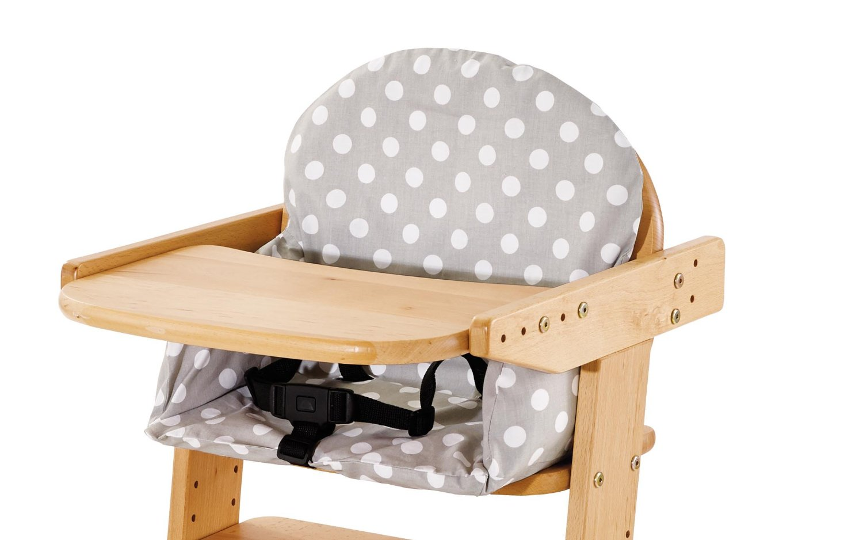 coussin chaise haute bois