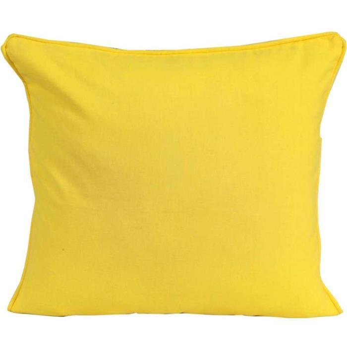 coussin jaune