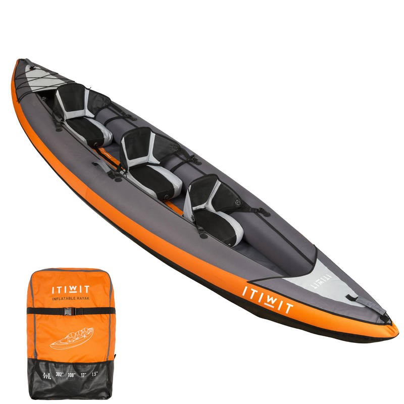 kayak gonflable 3 places
