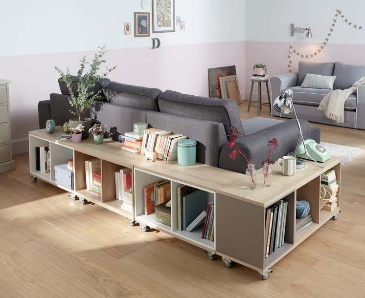 meuble derriere canapé