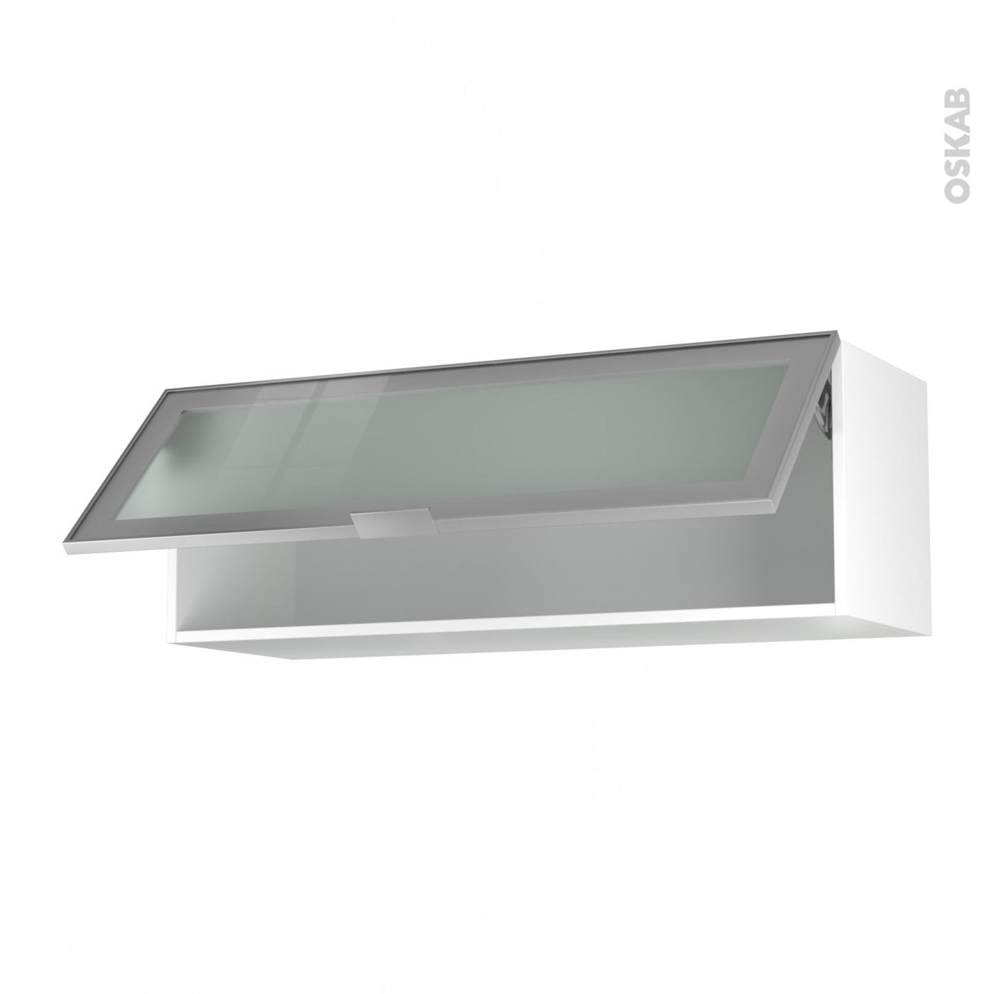 meuble haut cuisine vitré