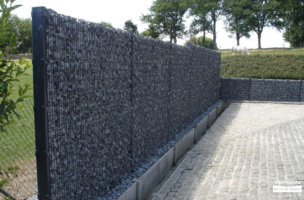 cloture en gabion