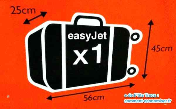 dimension bagage à main easyjet