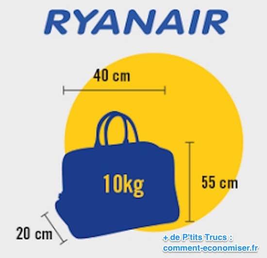 dimension bagage a main ryanair
