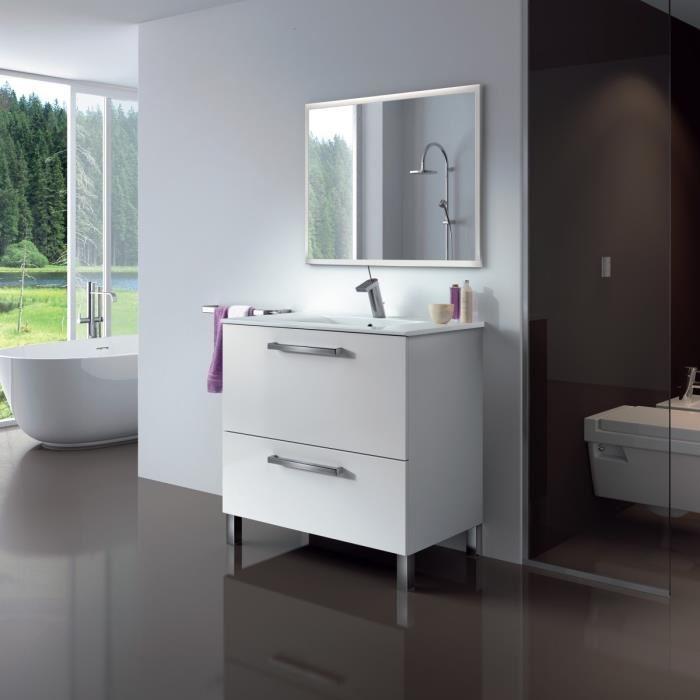 meuble salle de bain sur pied
