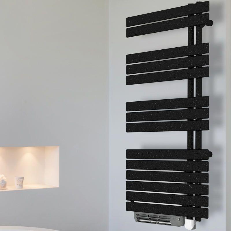 seche serviette electrique noir