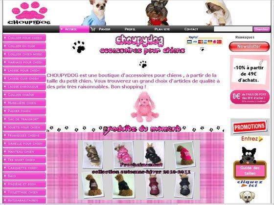 boutique chien en ligne