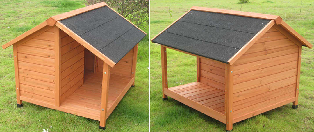 plan de niche pour chien avec terrasse